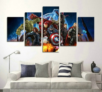 5 Piece Miracle Avenger Canvas