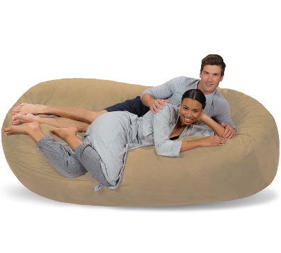 7.5 ft Lounger Memory Foam Bean Bag