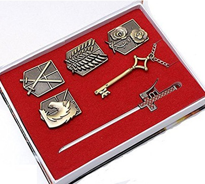 Attack on Titan Survey Corps Badge Pendant Set