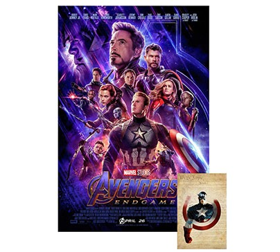 Avengers Endgame Movie Poster with Bonus