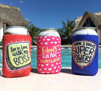 Hilarious looking cooler sleeve for can and bottle. Enjoy cooler drinks with yours friends or relatives during parties and more.