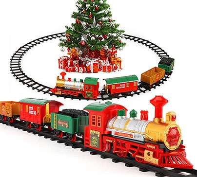 Christmas Electric Train Set with Light & Sounds