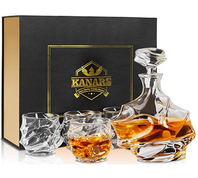 Emperor Whiskey Decanter And Glasses Set