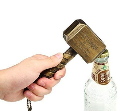Bottle opener shaped like a Thor's hammer in extra large size. The opener is made of ABS and metal. Ideal gift for any Thor Marvel fan.