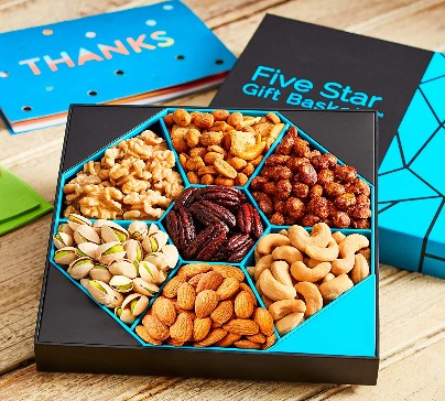 Five Star Gift Baskets, Holiday Nuts Gift Basket