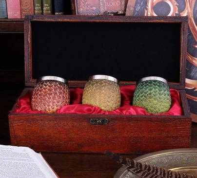 Game of Thrones Dragon Egg Shot Glasses - Boxed