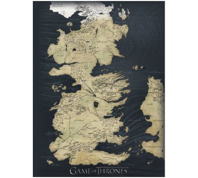 Game Of Thrones Map Canvas