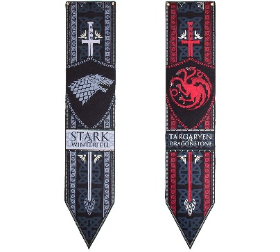 Game of Thrones Stark & Targaryen Felt Banner Set
