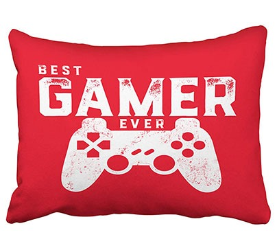 Games Geek Throw Pillow Cover