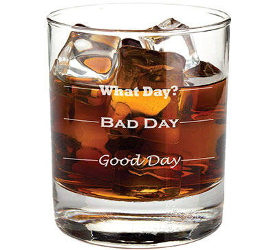Good Day, Bad Day - Funny 11oz Rocks Glass