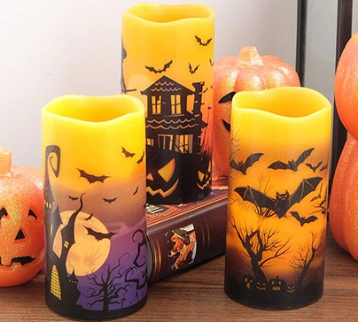Halloween Flameless Flickering LED Candles