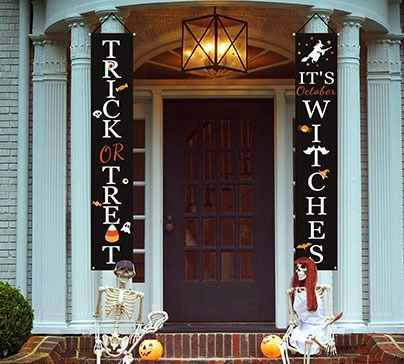 Halloween Signs for Front Door or Indoor