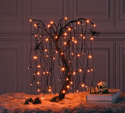 Halloween Willow Tree LED Bonsai Night Light
