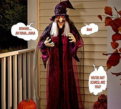 Hanging Animated Talking Witch Halloween