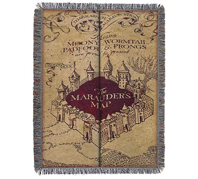 "Harry Potter ""Marauder's Map"" Blanket"