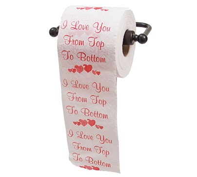 Hilarious And Romantic Printed Toilet Paper