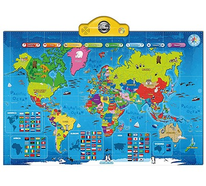 Interactive Talking World Map for Kids