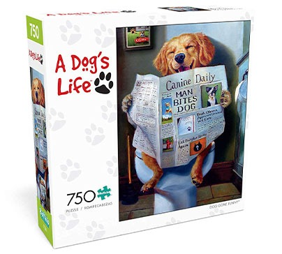 Jigsaw Puzzle A Dog's Life - 750 Pieces