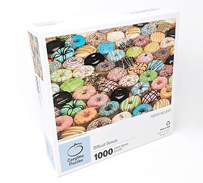 Jigsaw Puzzle Difficult Donuts - 1000 Pieces