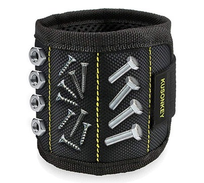 A magnetic wristband that can hold screws, nails, drills, bits and a lot more for you. With this great magnetic wristband you will never lose a single screw again.
