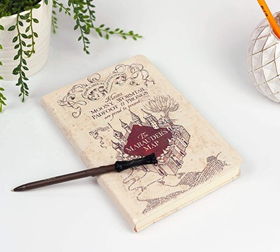 Marauder's Map Journal with Harry Wand Pen