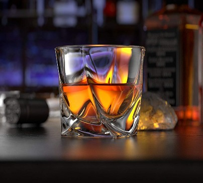 Modern Rocks Lead Whiskey Glass