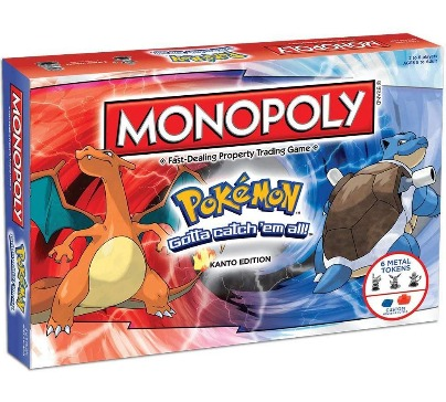 Monopoly game based on the TV series Pokemon. Travel through all eight gyms and battle all kinds of Pokemon in Kanto. Buy, sell or trade pokemons with other trainers to create the most powerful team.