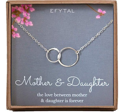 This unique and cordial handcrafted necklace is a beautiful gift for mom from daughter. Beautifully wrapped on a special card and ready to be gifted.