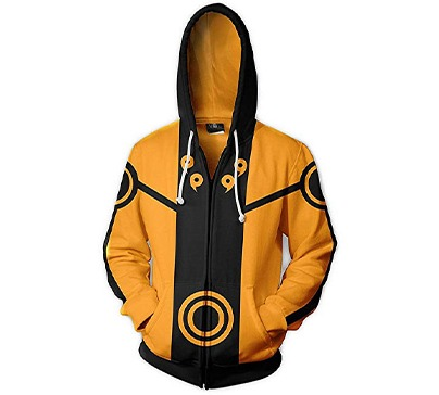 Naruto Long Sleeve Full-Zip Hooded Jacket