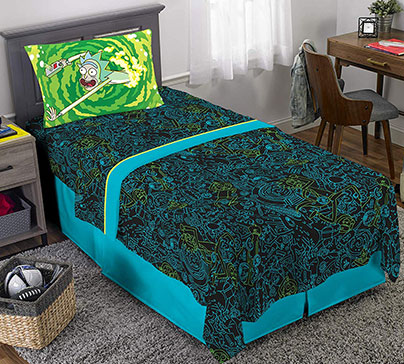 Rick & Morty Sheet Set Twin