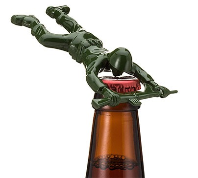 Sgt Pryer Green Army Man Bottle Opener