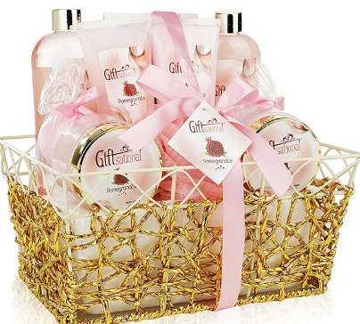 Spa Gift Basket Refreshing Pomegranate Fragrance