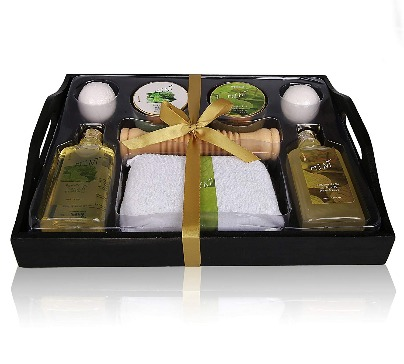 Spa Gift Basket With Refreshing Mint Fragrance