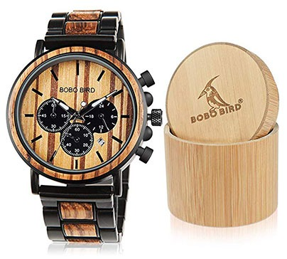 Stylish Wooden Mens Wristwatch