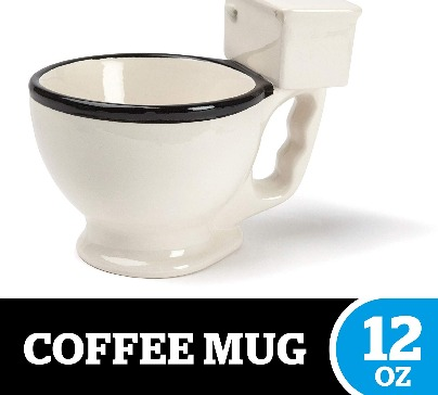 Cup in the shape of a toilet with a capacity of up to 12oz is the perfect gift for friends or loved ones. Made of high quality ceramic.