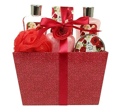 Valentine's Spa Gift Baskets for Women