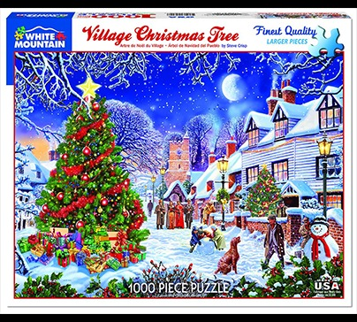 Village Christmas Tree - 1000 Piece Jigsaw Puzzle