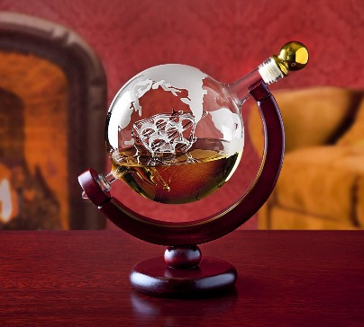 Whiskey Decanter Globe