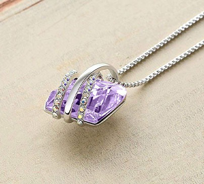 Wish Stone Pendant With Swarovski Crystals