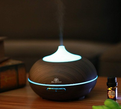 zen breeze essential oil diffuser dark wood